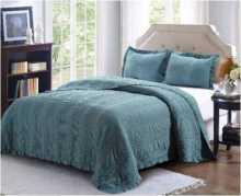 Комплект кувертюра за спалня Vintage Style в синьо, Комплекти, Продукти за сън 1986905280